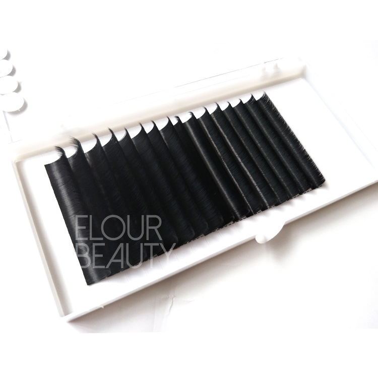 Private label easy fan volume eyelash extensions wholesale EL105