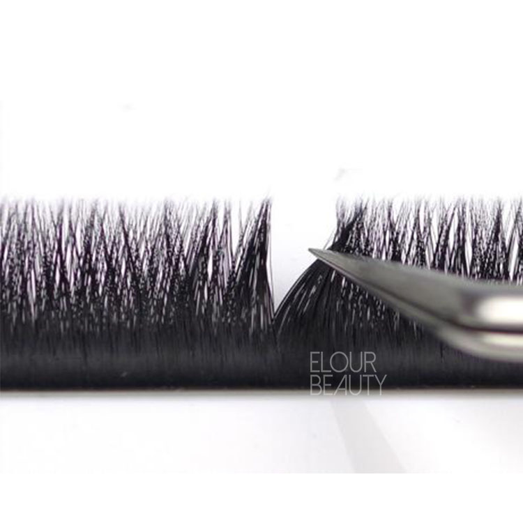 Private label V fast fanning easy flower mink lash extensions long lasting EY66