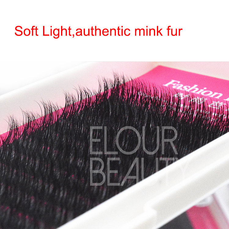 Natural professional 3D real mink eyelash extensions ES106