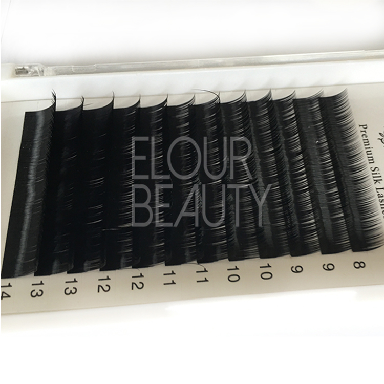 New hot private label ellipse flat eyelash extensions ES24