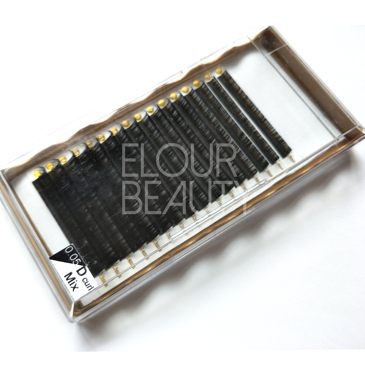 Feather soft russian volume eyelash extensions private label ED51