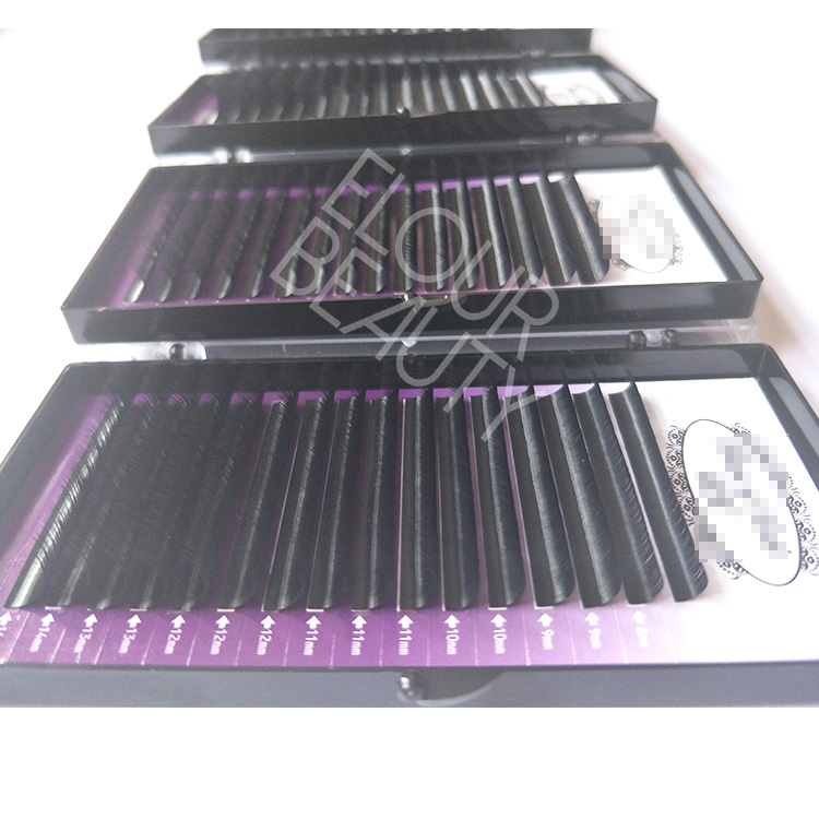 2f62917fdc7 Best natural looking volume fans eyelashes extension own brand factory China  EL43
