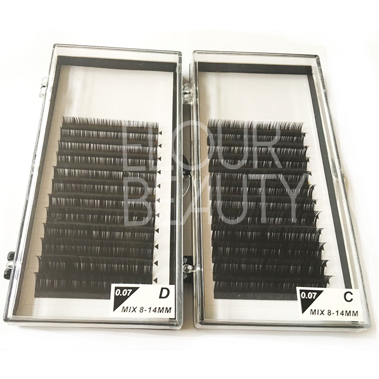 Wholesale long lasting silk lash extensions in private label EJ29