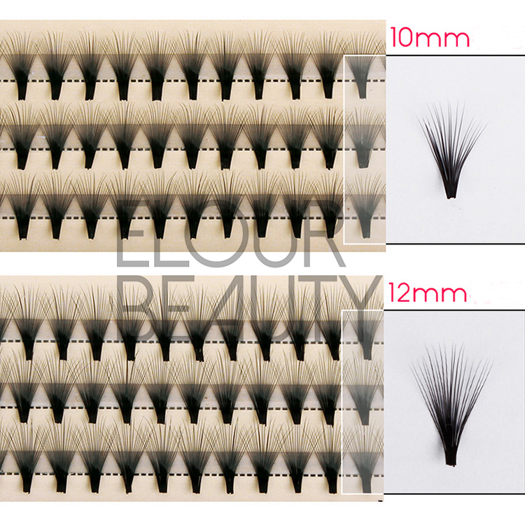 High quality cluster eyelash extensions private label wholesale ED23