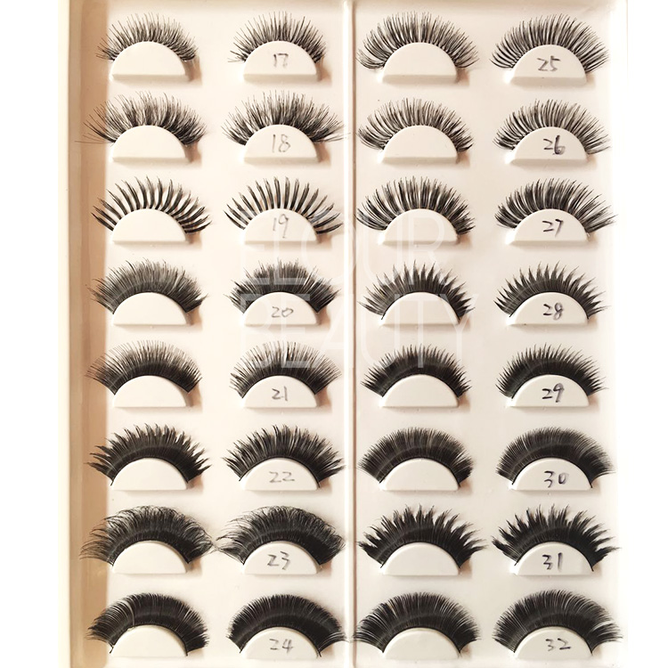 Hot sales wholesale synthetic false eyelashes uk ES76