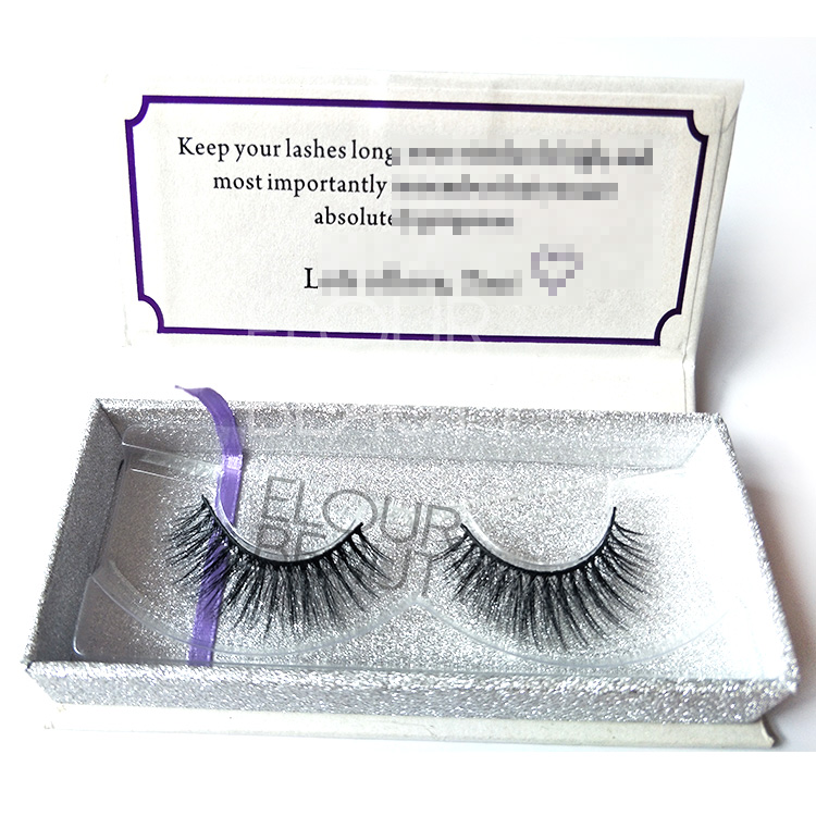 Custom strip faux mink 3d lashes wholesale EL118