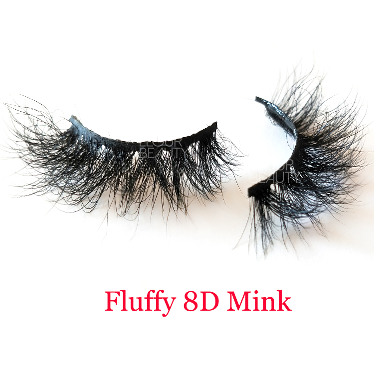 2020 newest fluffy 8D mink wholesale eyelash vendors customized EY49