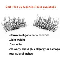 Top selling magnetic reusable fake lashes China supplies EA44