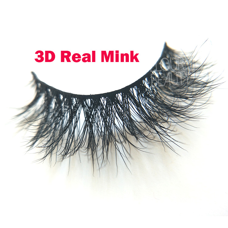 Wholesale good fake eyelashes strip 3d real mink lashes China EL54