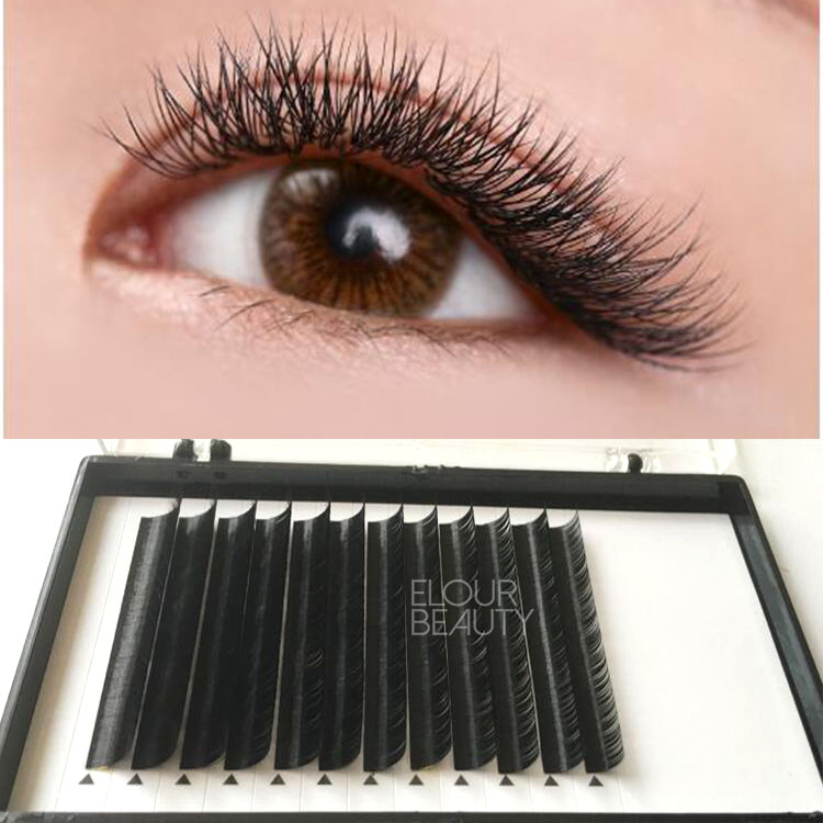 Private label logo hybrid lashes mink lash extensions with mask use EY55