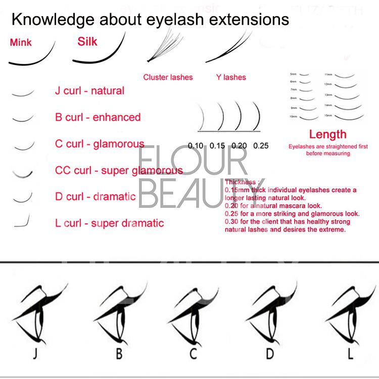 Private Label BCDJ Curl Eyelash Extensions Mixed Length ES54