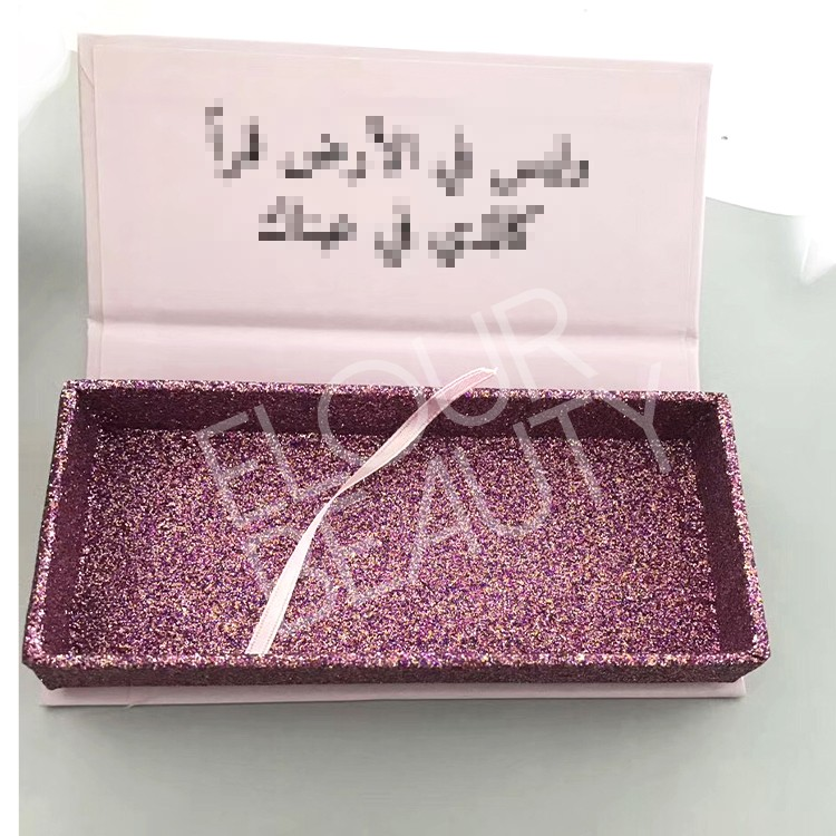 private logo pink glitter lash boxes wholesale.jpg