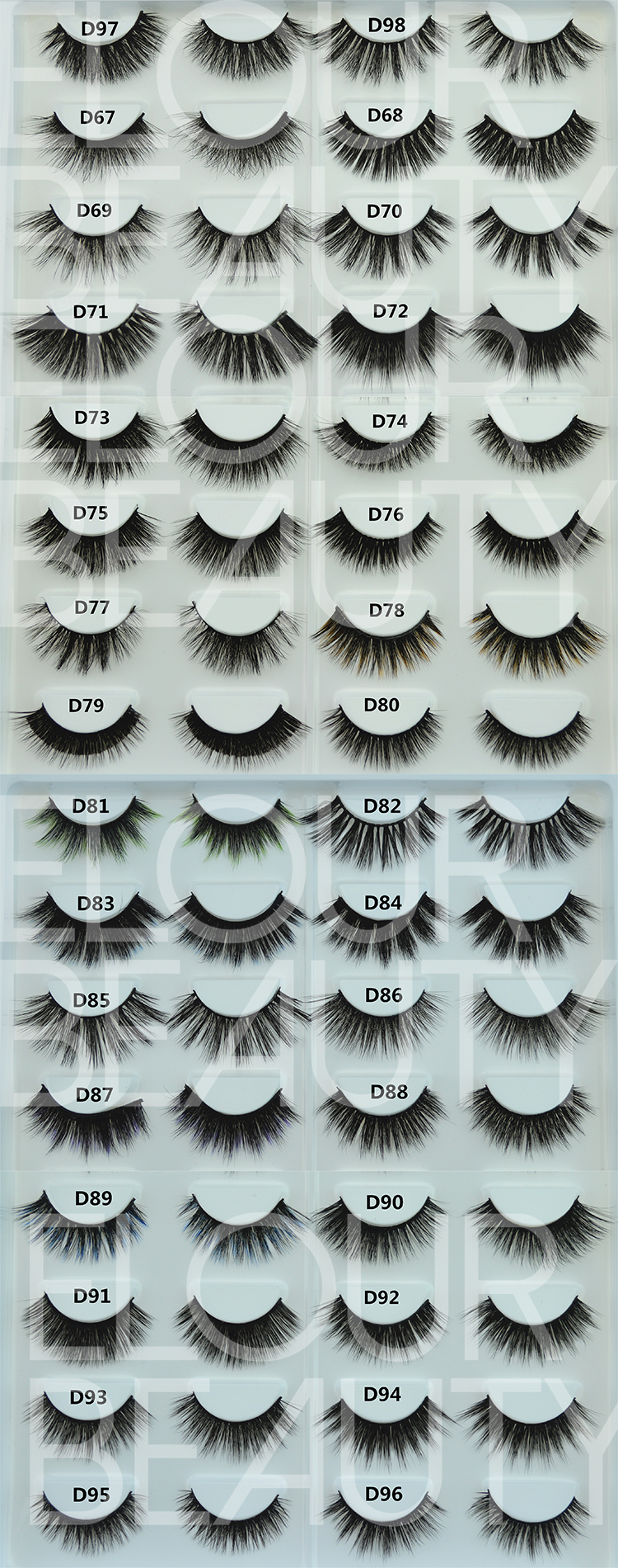 hundreds styles of 3d silk lashes can do in self-adhesive eyelashes.jpg