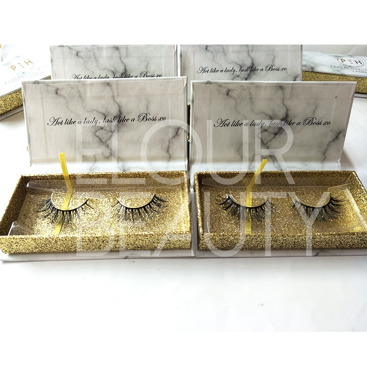 gold glitter private label lash box 3d faux mink lash wholesale.jpg