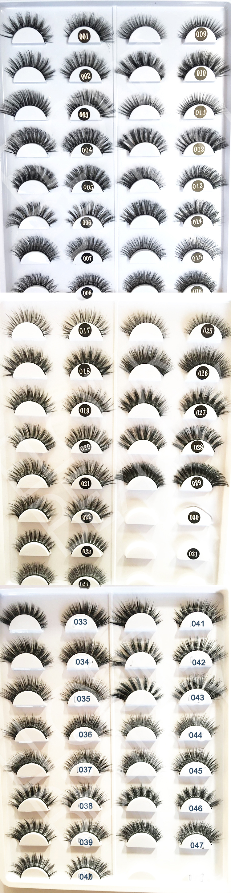 hundreds styles of 3d faux mink eyelashes wholesale.jpg