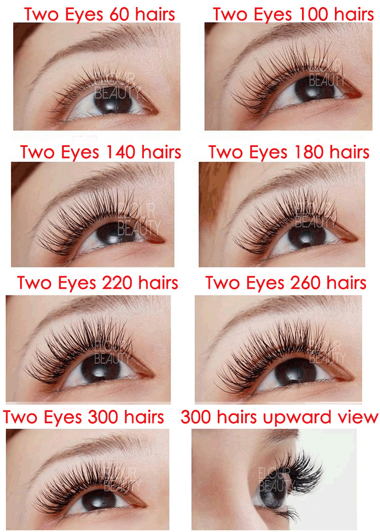 the effect for how many hairs lash extensions planting China.jpg