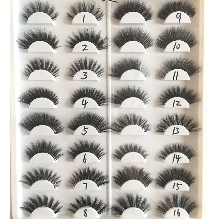wholesale different styles of 3d faux mink eyelashes vendor China.jpg