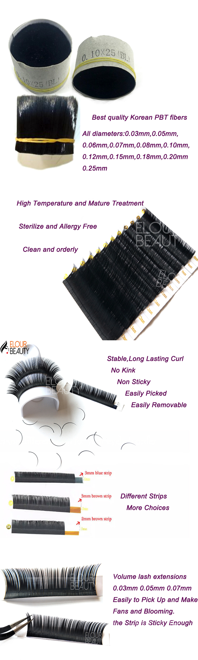 9a1afc5942c Fast fanning russian volume lashes extensions wholesale China EL116 ...