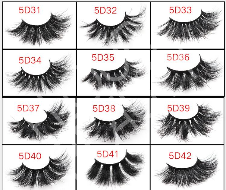 Private label 25mm 5D mink wholesale eyelash vendors EL130 ...