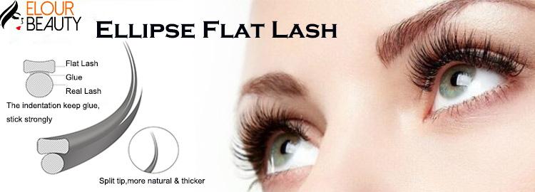 Split tip matte flat ellipse cashmere eyelash extensions