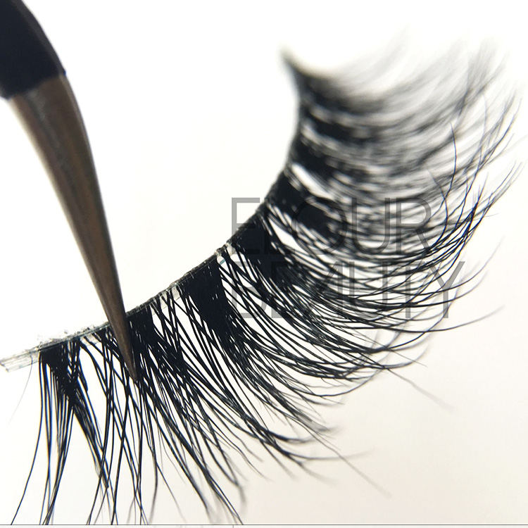 Top quality mink 3D invisible bands long eyelashes  wholesale EA04