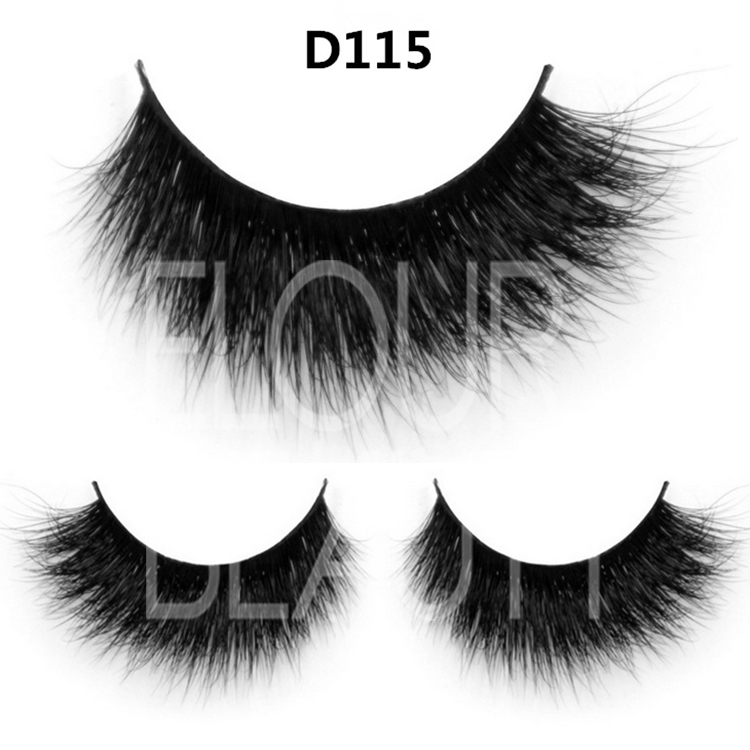 OEM glam 3D mink eyelashes with custom boxes ES39