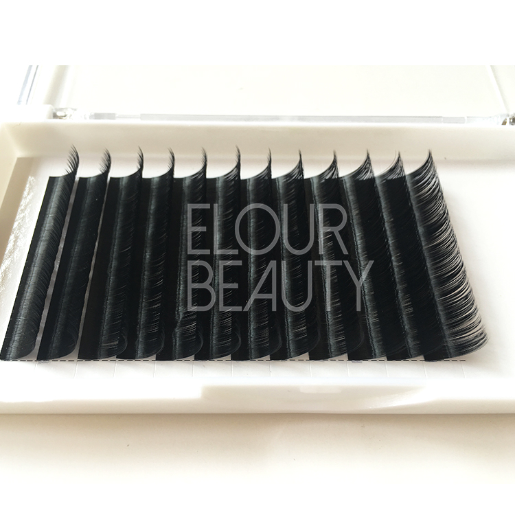 Ellipse flat lash extension private label China supplies EA54