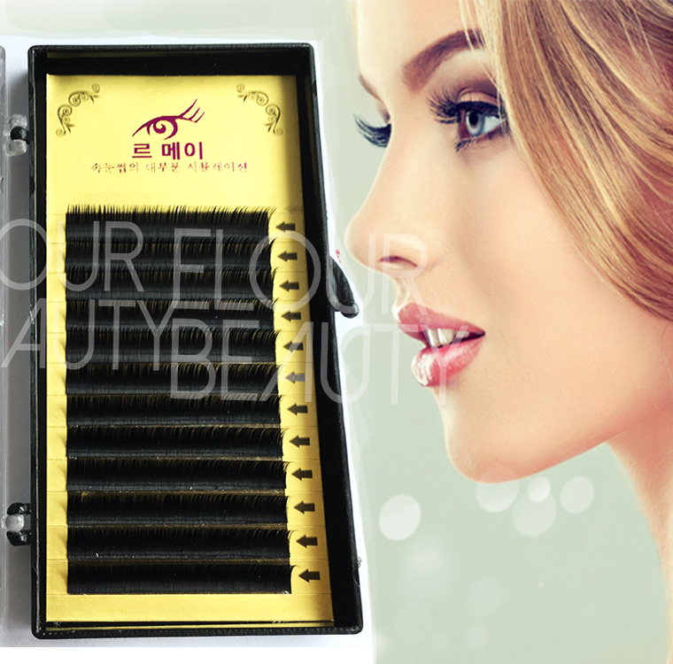 Private label mink natural looking eyelash extensions China EJ70