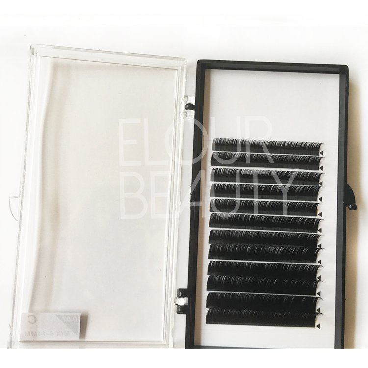 Best ellipse flat lash exensions  manufacturers ED24