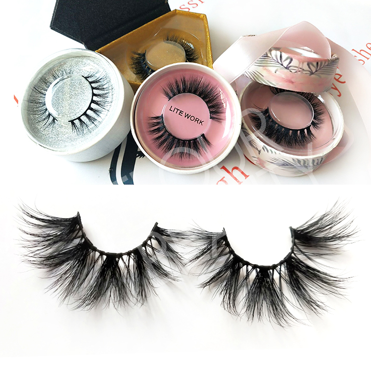 Private label 25mm 5D mink long eyelash vendors wholesale EY12