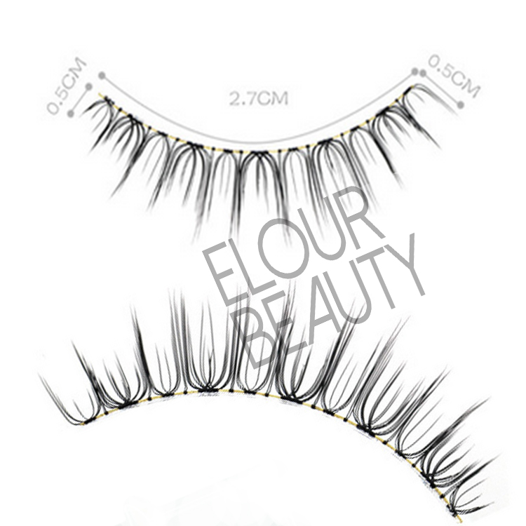 Factory supply false bottom lashes handmade ES97
