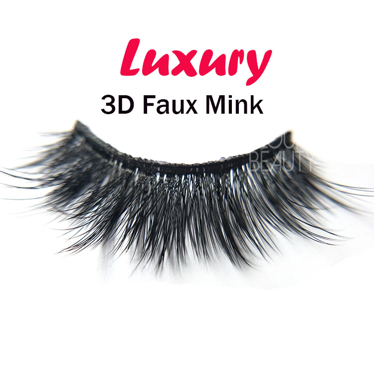118c9a9568a Private label 3D faux mink strip false lashes angel wing China EL41 ...