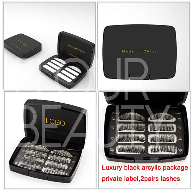 Full magneitc two sets of eyelashes private label USA  EA108
