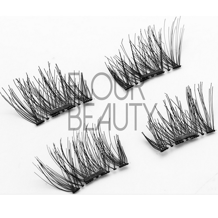 Soft light reusable magnetic eyelashes China manufacturer EA39