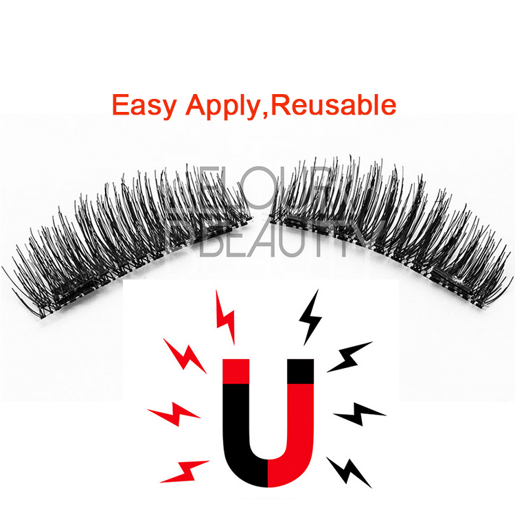 Best magnetic 3d lashes customize package China EJ92