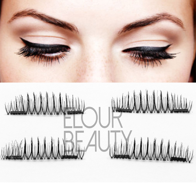 Double magnetic false eyelashes private lable China company EA12