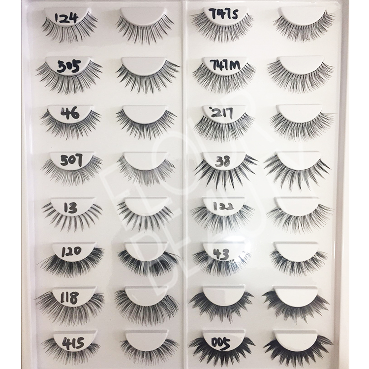 Private label human hair eyelashes ES72