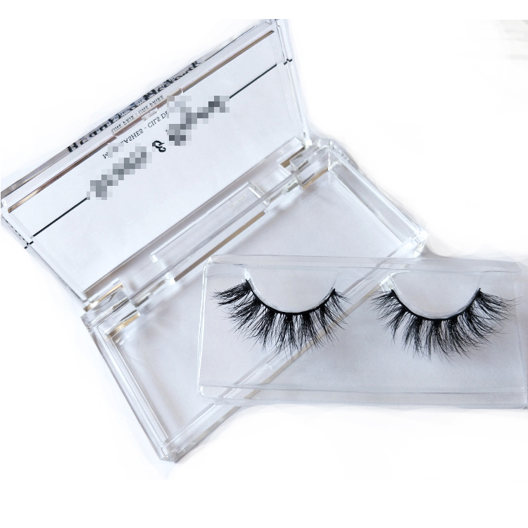 Luxury volume mink 3d super lash with private label arcylic box wholesale ED136