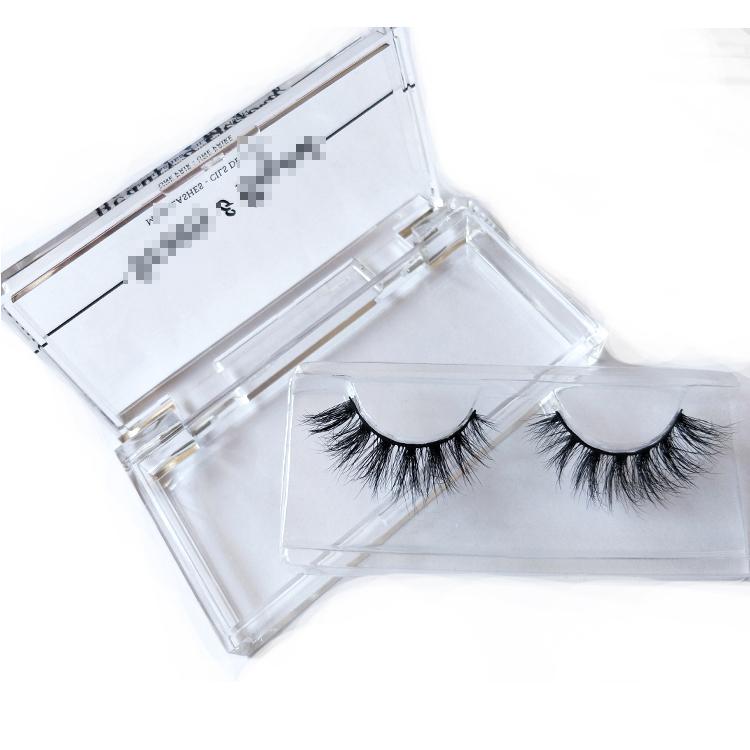 Luxury volume mink 3d super lash with private label arcylic box