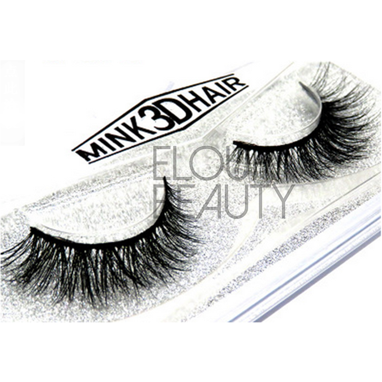Wispy 3D mink natural fake lashes China wholesale EA70