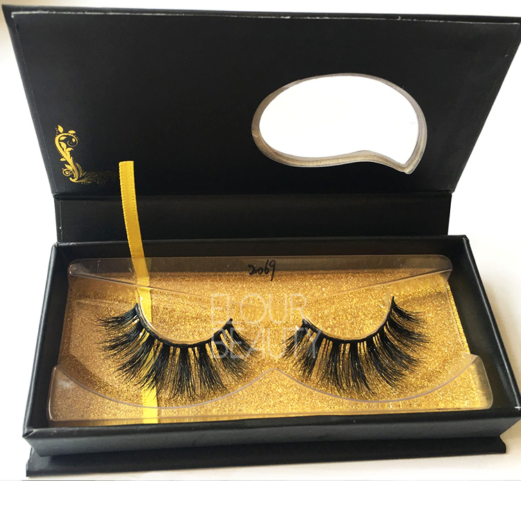 Best 3D real mink false eyelashes private label China EJ100