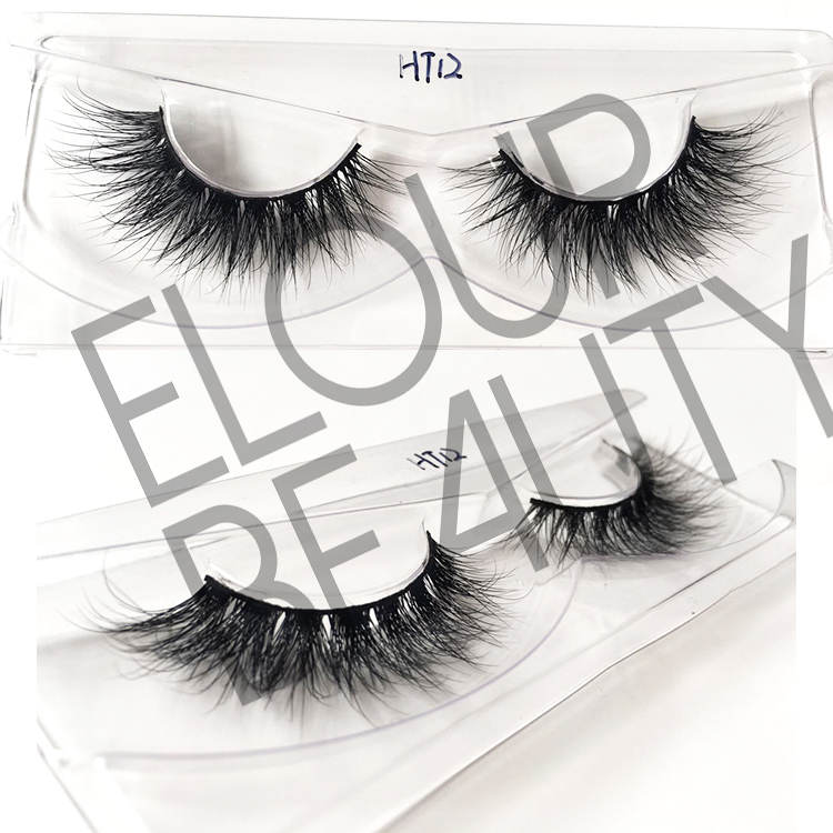 3D mink fur eyelashes with 3D wispies effect EJ41