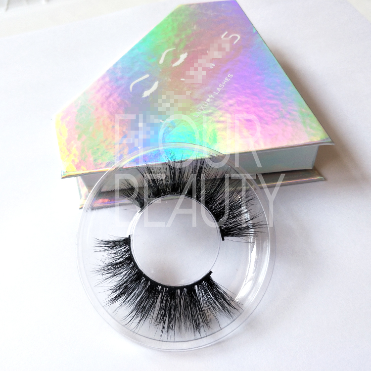 ddea8fc1272 Wispy style mink 3d lashes china in diamond shape box ED120 - Elour ...