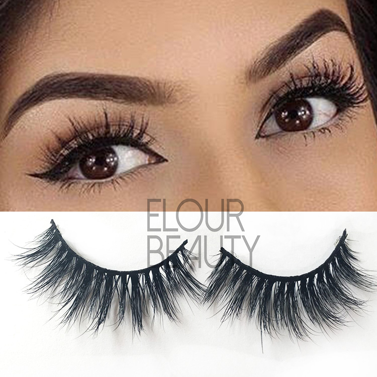 Natural long eyelashes extensions 3D mink lash ES102