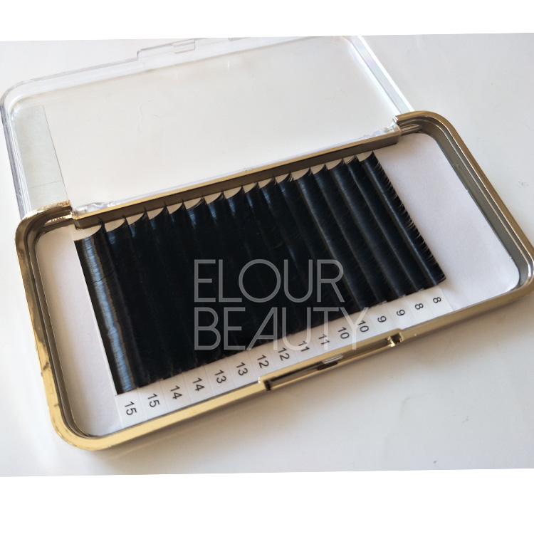 Silk mink eyelash extensions individual fake eyelashes China ED87