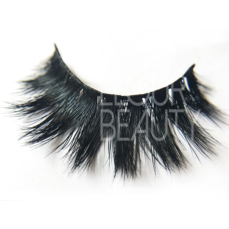 OEM 100% mink hair wholesale mink eyelashes with custom box EJ02