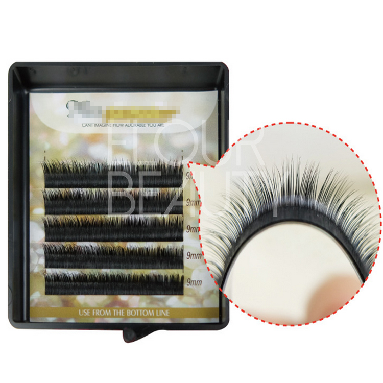 Private label B,C,D,J curl eyelash extensions mixed length ES54