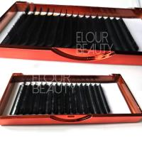 Private lable matte ellipse flat eyelash extensions suppliers China  ED83