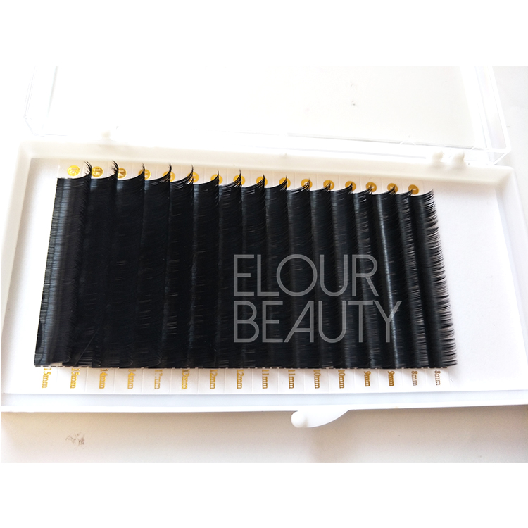 Premium soft volume lashes extensions private label wholesale UK ED42