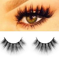 Premium quality black 100% real mink eyelashes wholesale ES15